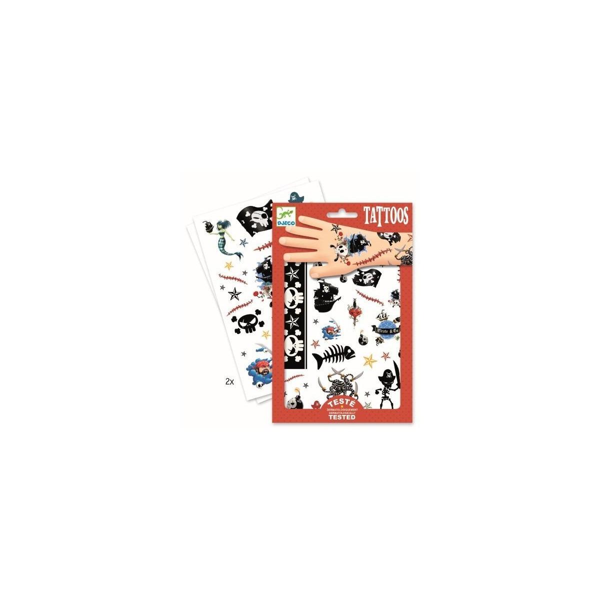 Tattos De Piratas Y Calaveras De Djeco Disfraces Infantiles