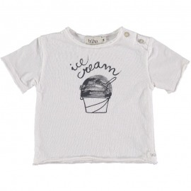 CAMISETA HELADO ICE CREAM BLANCO