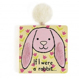 LIBRO TEXTURAS IF I WERE A RABBIT BOARD BOOK PINK