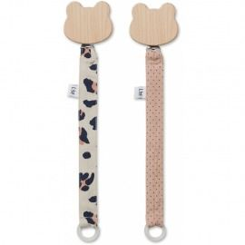 SUJETACHUPETE SIA CARA OSO ANIMAL PRINT, PACK 2 UN