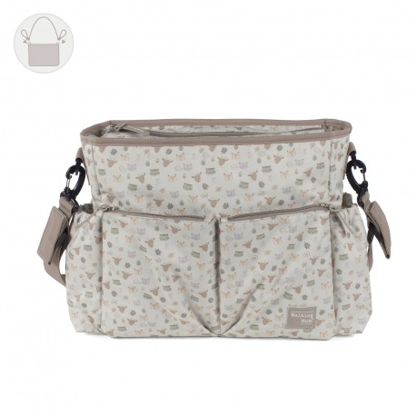 BOLSO CAMBIADOR HAPPY ANIMALS BEIGE
