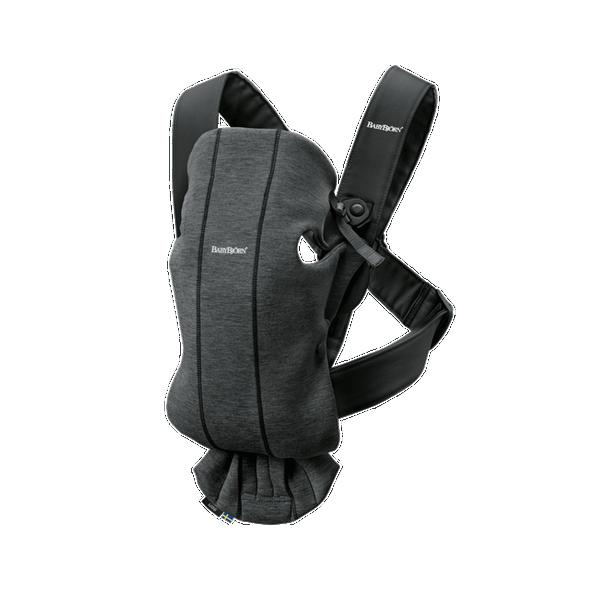 Mochila Porta bebé mini jersey gris oscuro de Babybjörn