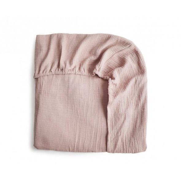 Sabana bajera rosa para cuna  de Mushie