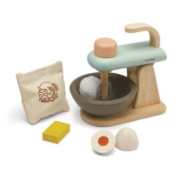 Batidora juguete Stand Mixer set de Plantoys