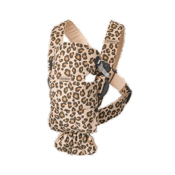 Mochila Porta bebé Mini Cotton Leopard beige de Babybjörn