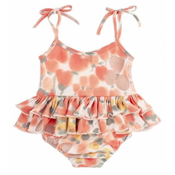 Vestido Body tirantes Flower printed pink de Tocotö Vintage