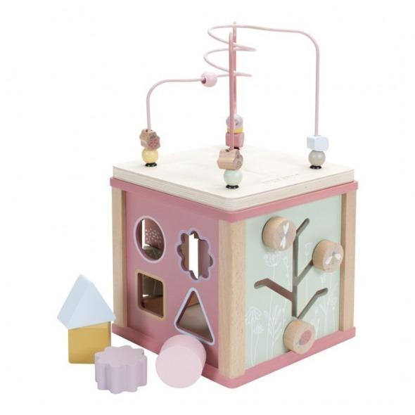 Cubo de actividades Flower rosa de Little Dutch