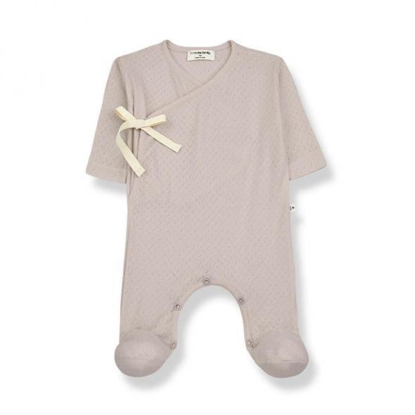 Pelele cruzado newborn Sonia nude de 1 more in the Family