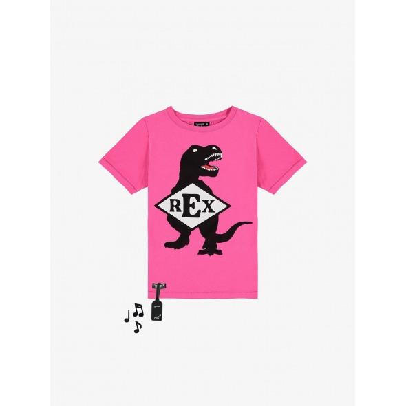 Camiseta con sonido Rex fucsia de Yporque