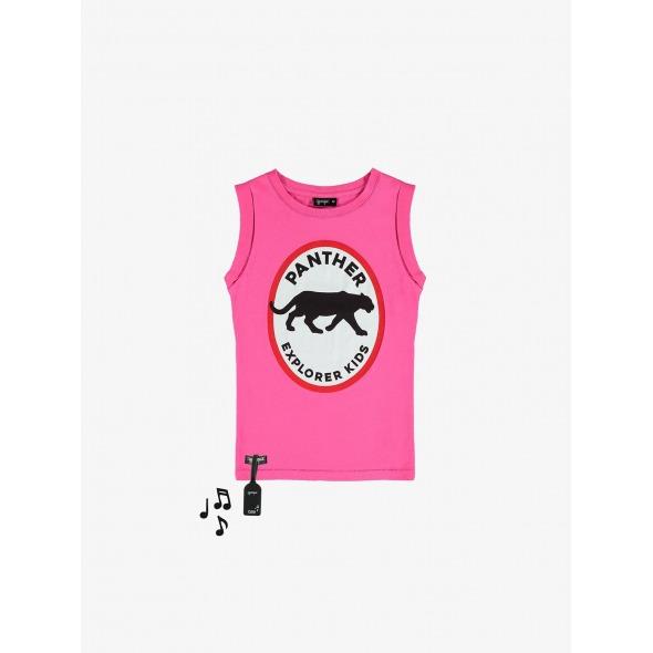 Camiseta con sonido Panther fucsia de Yporque