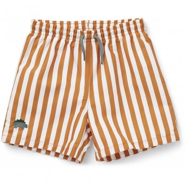 Bañador Duke Stripes mostaza white de Liewood
