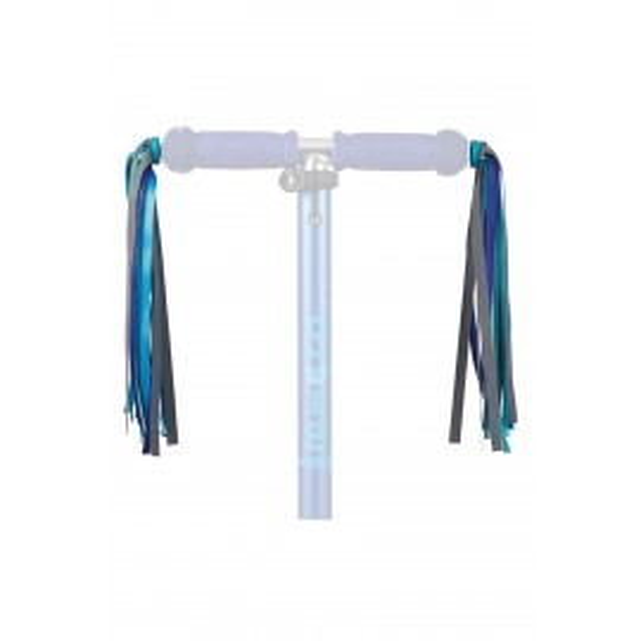 Flecos manillar patinete micro azul reflectante