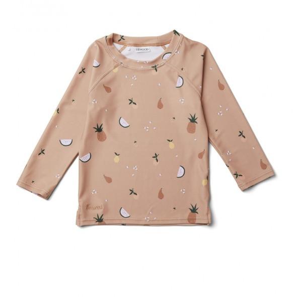 Camiseta baño Noah Fruit pale Tuscany rose de Liewood