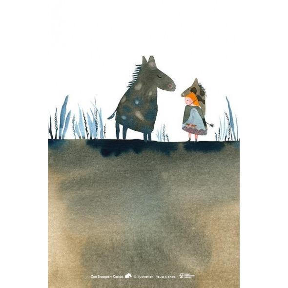 Postal caballo de Paula Alenda
