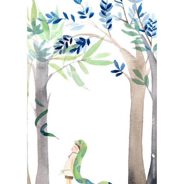 Lamina decorativa niño serpiente de Paula Alenda
