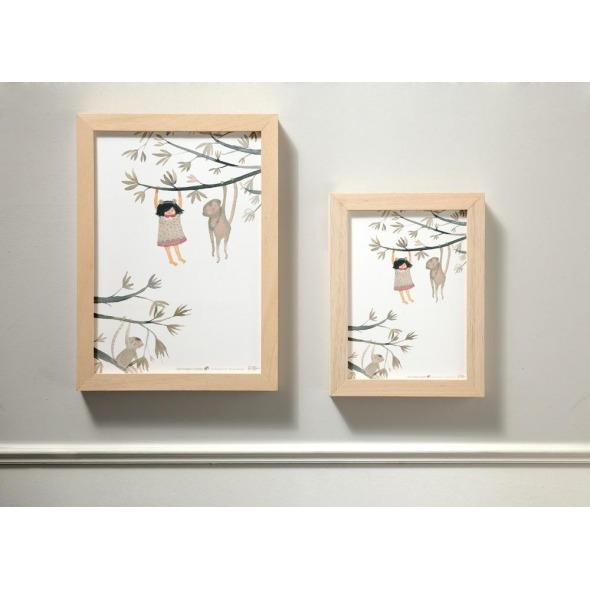 Lámina decorativa niños monos de Paula Alenda