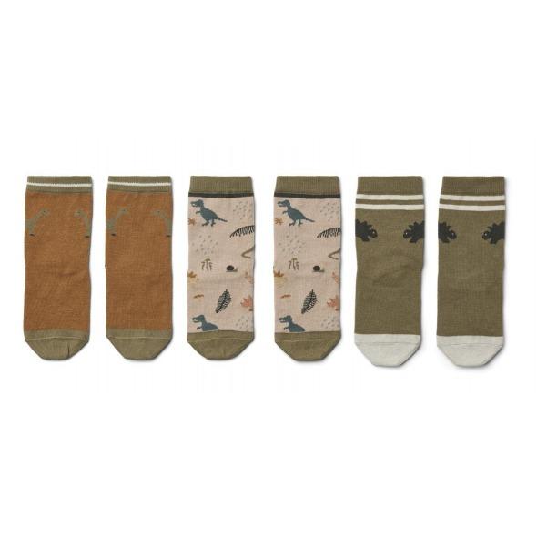 Calcetines Silas dark sandy 3 pack de Liewood