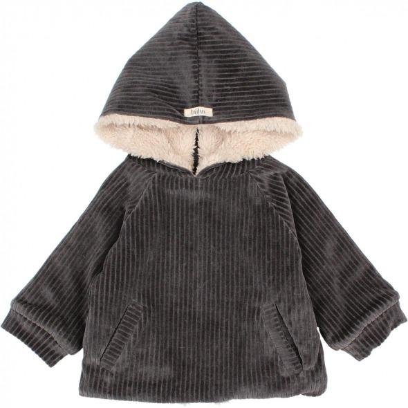 Chaqueta Baby Knit velour antracita de Buho Bcn