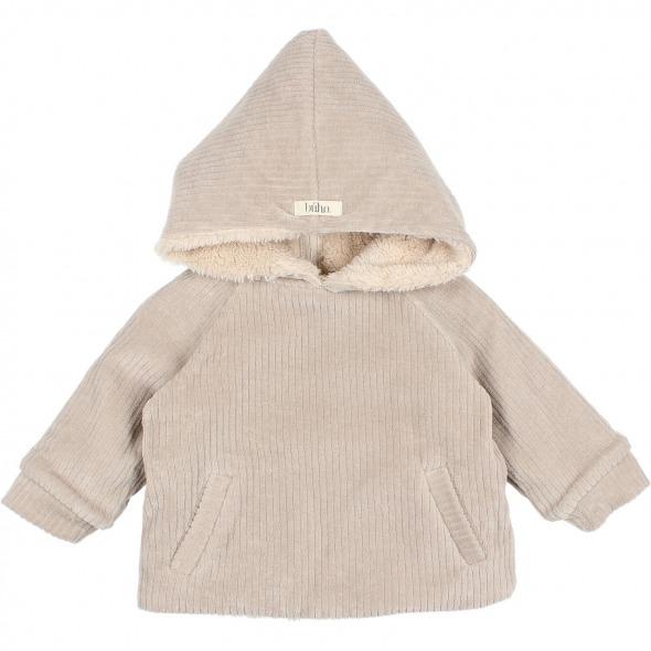 Chaqueta Baby Knit velour stone de Buho Bcn