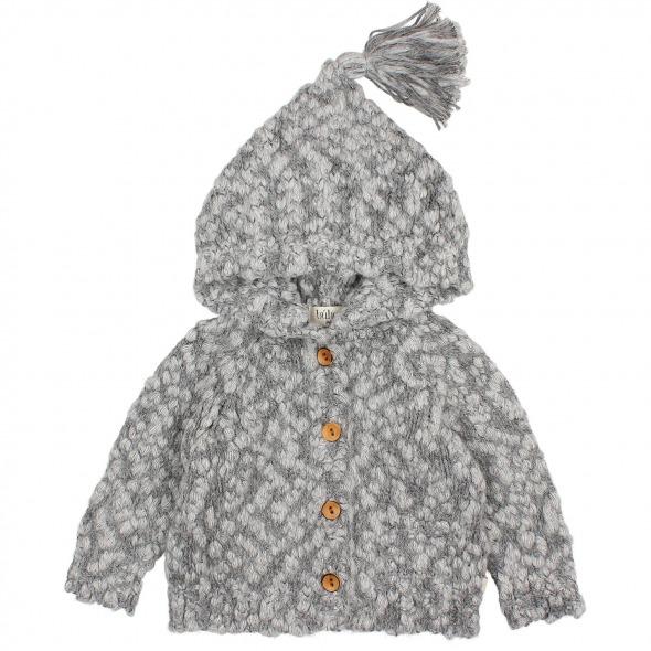 Chaqueta capucha Knit grey de Buho Bcn