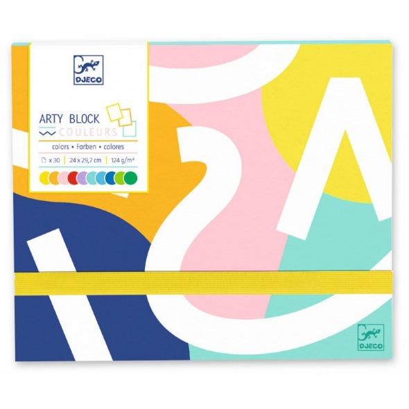 Arty block papel de color de Djeco