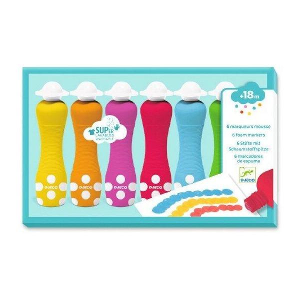 Colores para pequeños marcadores de espuma de Djeco