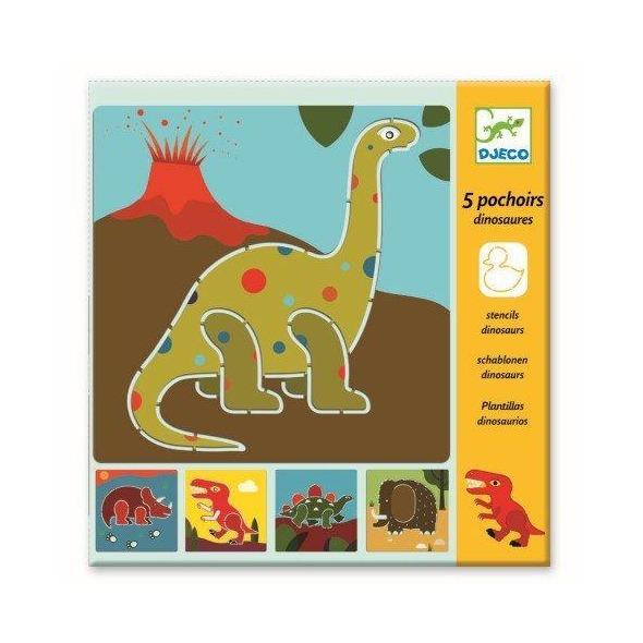 Plantillas dinosaurios de Djeco