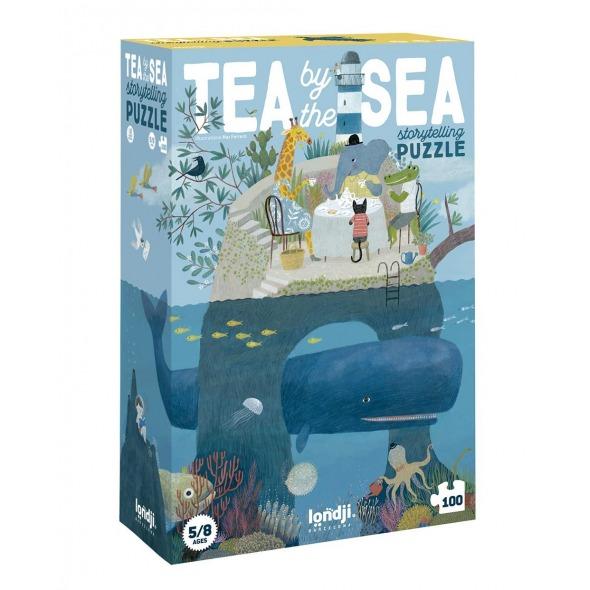 Puzzle y juego de observación Tea by the sea 100 pzs