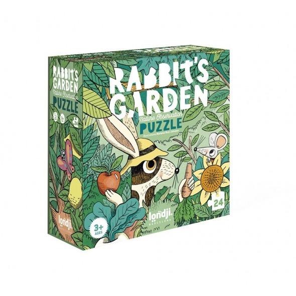 Puzzle y juego de observación Rabbit's Garden de Londji