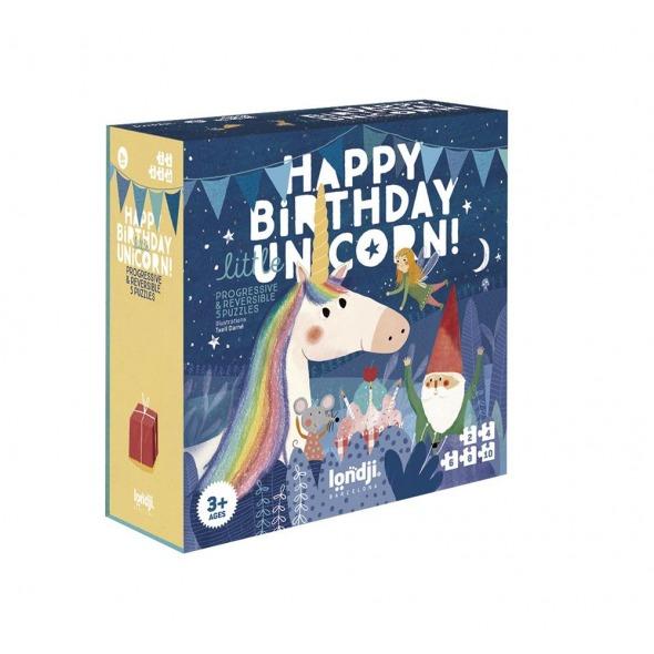 Puzzle progresivo reversible Happy Birthday Unicorn de Londji