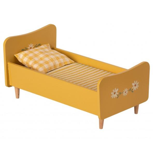 Cama madera mini ratoncitos y conejitos yellow de Maileg