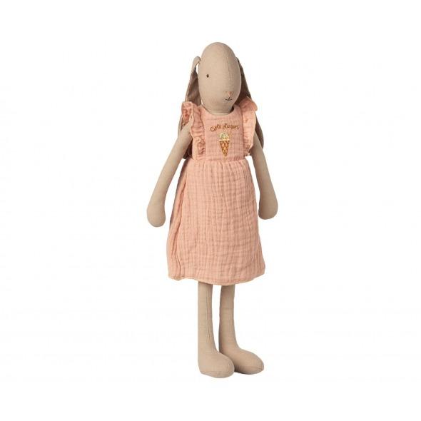 Conejita Bunny talla 3 vestido rosa de Maileg