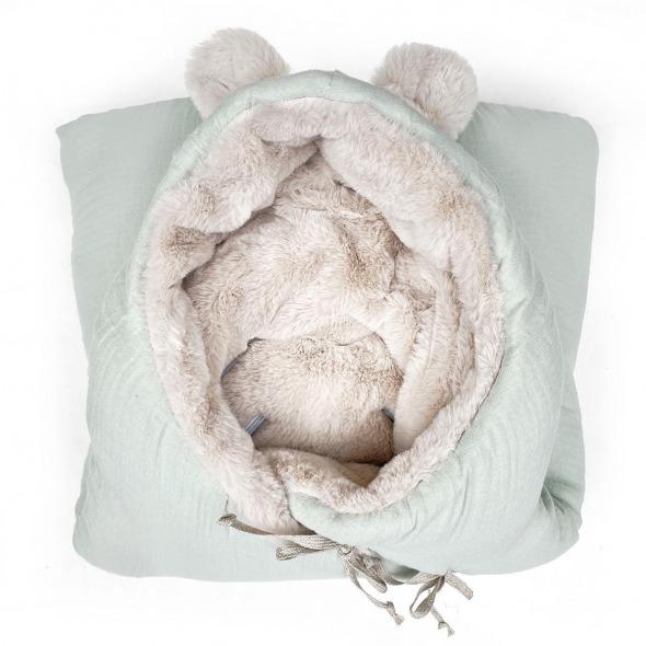 Saco capazo invierno bebé teddy sage powder de Babyshower