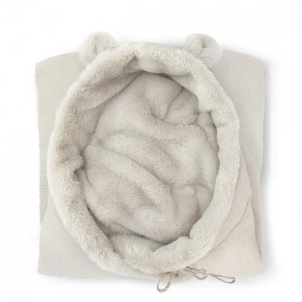 Saco capazo invierno bebé teddy Cloud powder de Babyshower