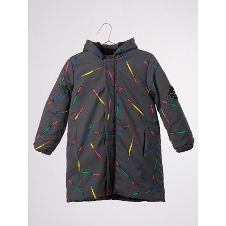 PARKA ANORAK MAGIC WANDS GRIS ANTRACITA