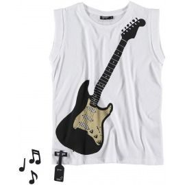 CAMISETA SONIDO AIR GUITAR BLANCA