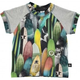 CAMISETA TABLAS DE SURF GRIS