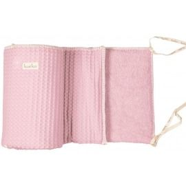 COT BUMPER AMSTERDAM BABY PINK