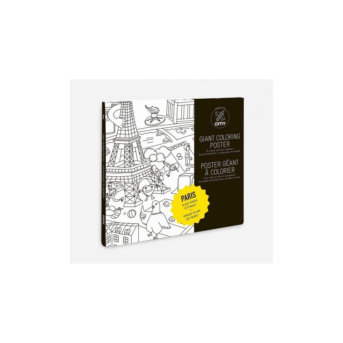 POSTER  GIGANTE PARA COLOREAR PARIS