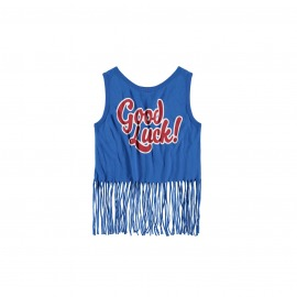 CAMISETA FLECOS GOOD LUCK AZUL ROYAL
