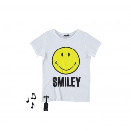 CAMISETA SONIDO SMILEY BLANCA