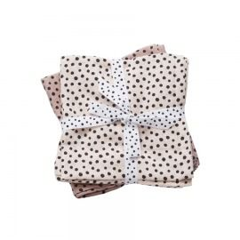 MUSELINAS HAPPY DOTS PEQUEÑAS PACK 2 ROSA