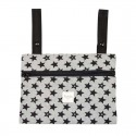 MINI CLUTCH BLACK STAR GRIS