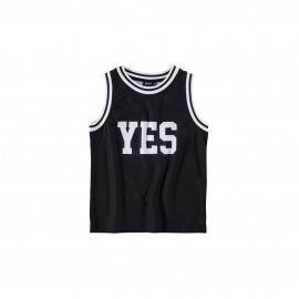 CAMISETA YES & NO NEGRA