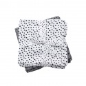 MUSELINAS HAPPY DOTS PEQUEÑAS PACK 2 GRIS