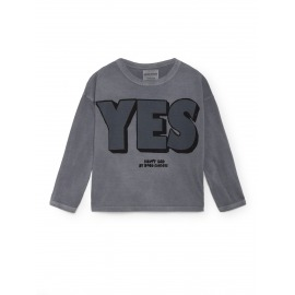 CAMISETA YES NO GRIS PLOMO