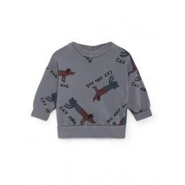 SUDADERA CATS AND DOG BABY GRIS