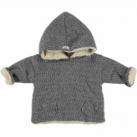 CHAQUETA BORREGUITO POLAR TWEED GRIS