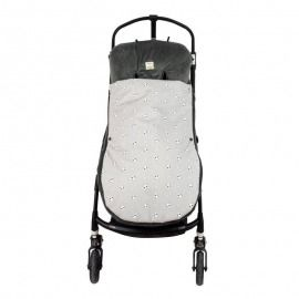 SACO SILLA UNIVERSAL TEDDY PANDA MR WONDERFUL GRIS