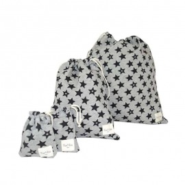 PACK BOLSAS GUARDERÍA BLACK STAR GRIS